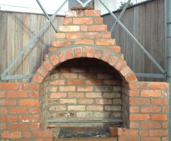 Reclaimed Brick Bbq With Chimney Brick Bbq Build Outdoor