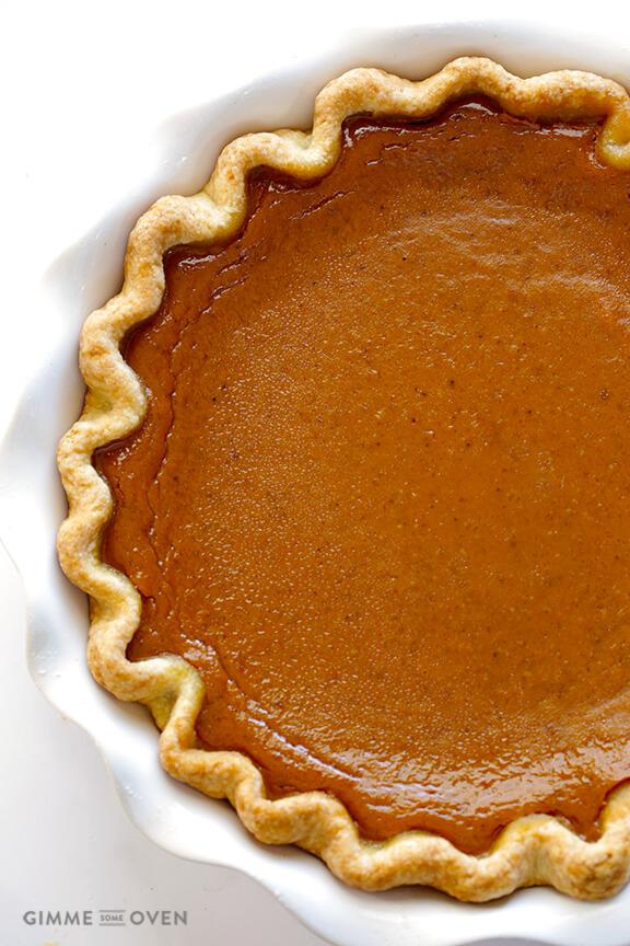 Bourbon Pumpkin Pie | Gimme Some Oven