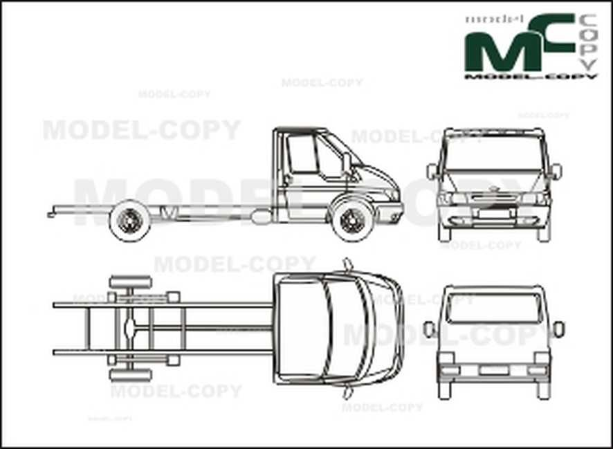 Ford FT 350 EL Transit chassis, single cabin, wheelbase