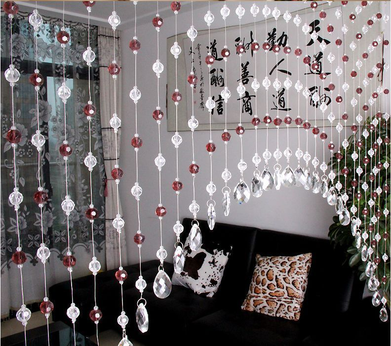 10M Glass Crystal Bead Curtain Fashion Luxury Home Living Room Bedroom Decor