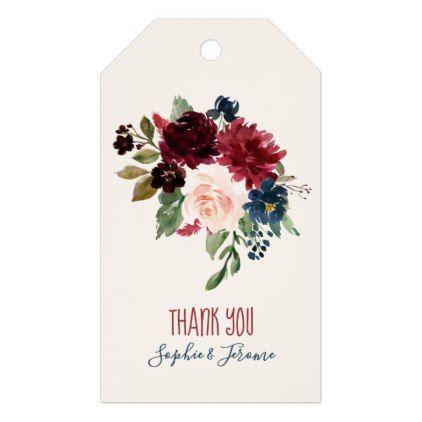 Burgundy navy blue floral watercolor bouquet gift tags floral burgundy navy blue floral watercolor bouquet gift tags floral style flower flowers stylish diy personalize negle Choice Image