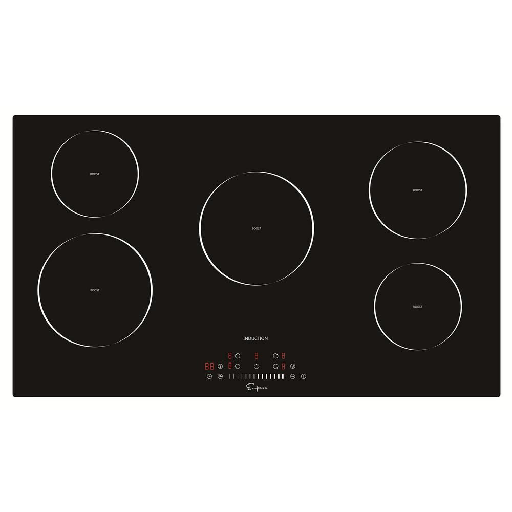 Empava 36 In Electric Stove Induction Cooktop In Black 5 Elements