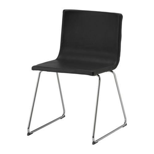 BERNHARD Stol - forkrommet/Kavat mørk brun - IKEA