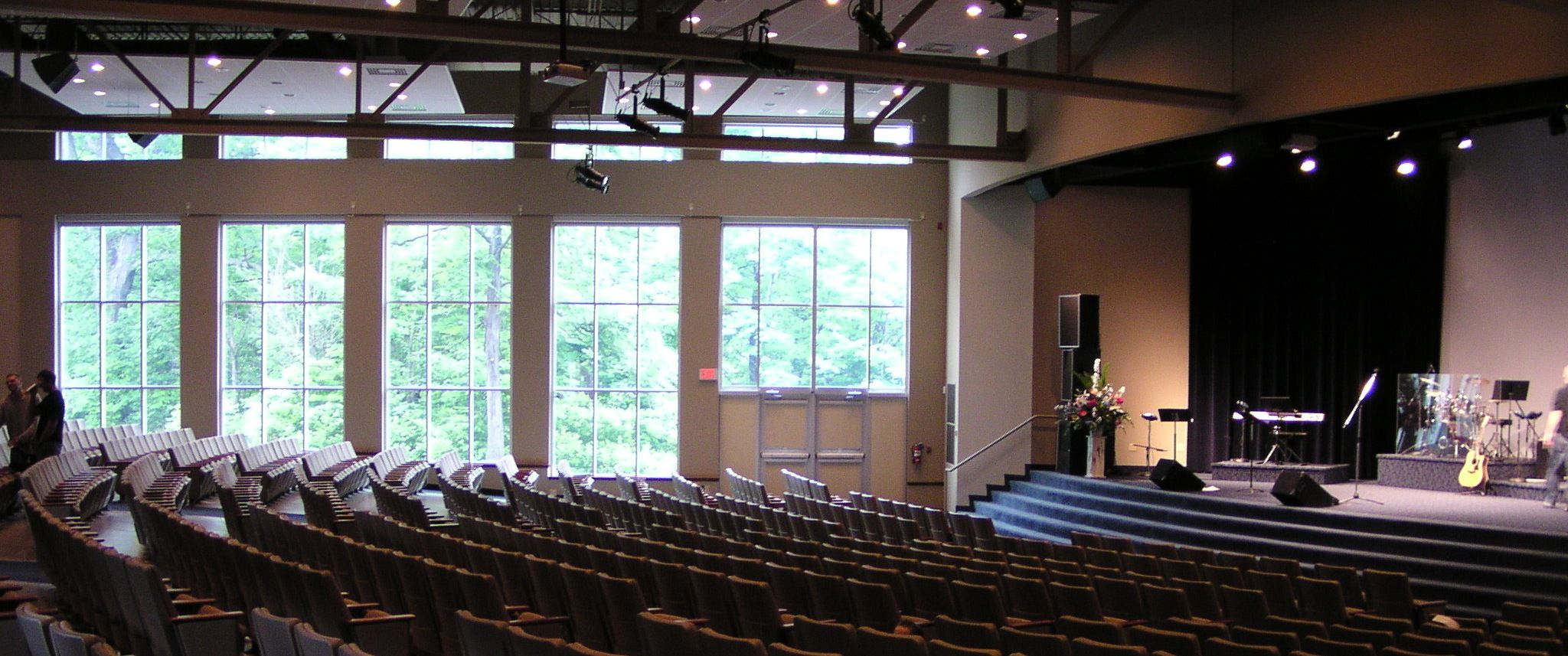 sanctuary designs for small churches church design dedicated sanctuary or multi purpose auditorium - Small Church Sanctuary Design Ideas