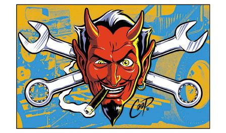 48db7fb2b wrench devil | Mickey Duzyj | Art, Rockabilly art, Lowbrow art