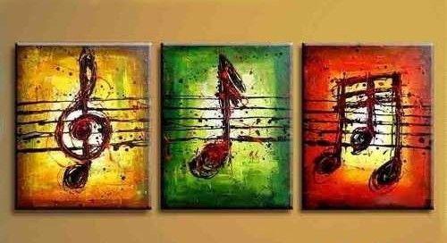 Pintura acrilica cuadros musical artesanias pinturas - Ideas para pintar cuadros ...