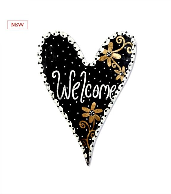 Black Amp Gold Welcome Heart Now Available New For