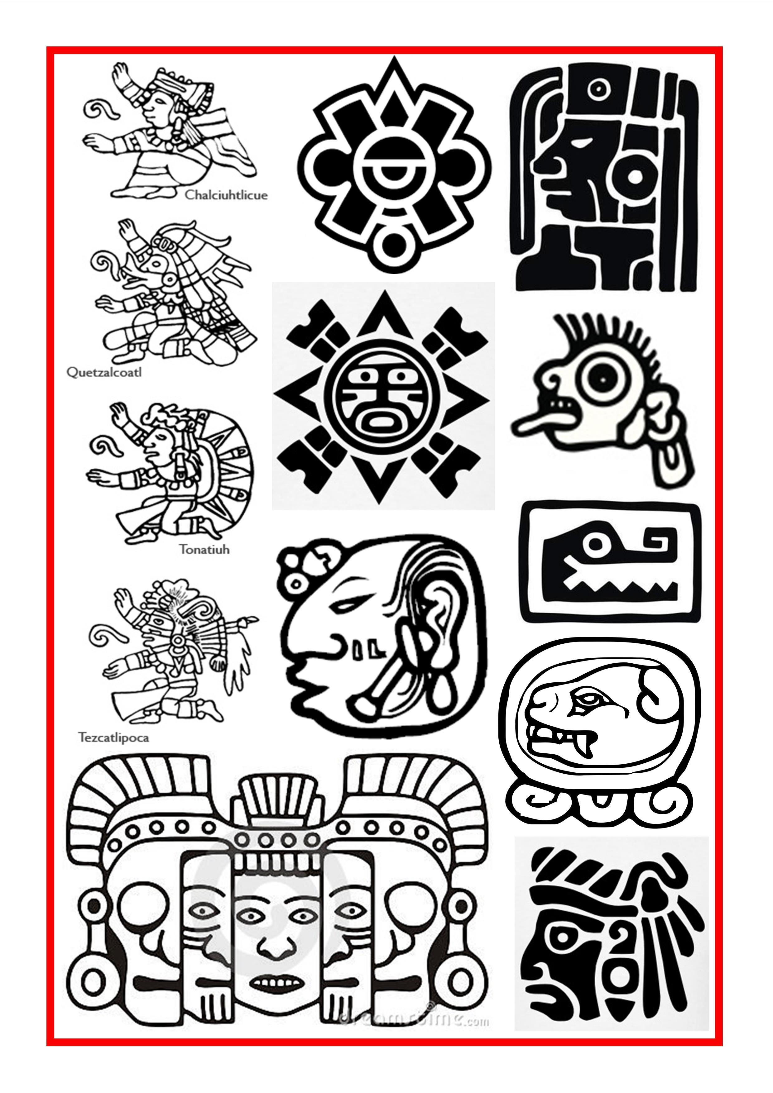 Aztec and Mayan Symbols … | Pinteres…