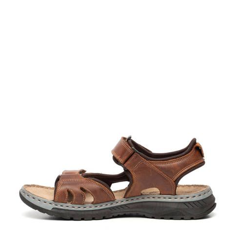 Leren sandalen bruin in 2020 Sandalen, Bruin en Leer
