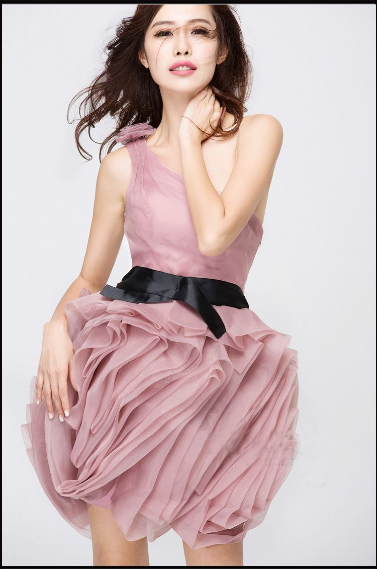 Red Blush Pink Rose Christmas New Year Party bridesmaids dress $88 ...