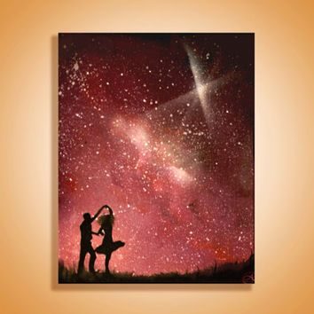 House Silhouette Painting Couples Canvas Art Silhouette Painting Silhouette Art