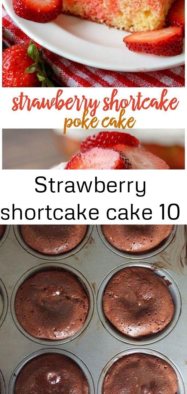 Strawberry shortcake cake 10 #chocolatepeanutbutterpokecake