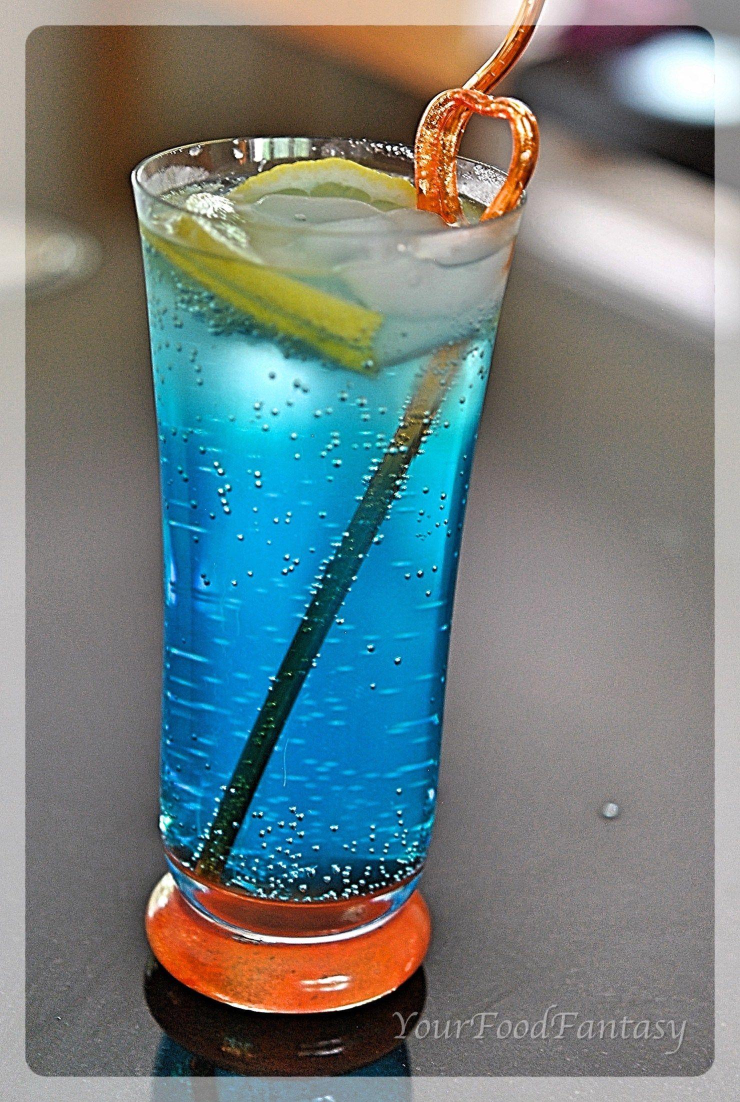 Blue Lagoon Mocktail Recipe Food Fantasy Blue Lagoon