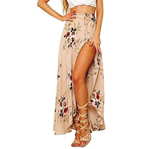 Comprar Ofertas de Moda Maxi Falda Larga Estampada Flor Boho Verano para  Mujer Vestido Pareo Playa Bikini Cover Up Ropa de Playa Fiesta Caual Va  barato. e3b824ac7299