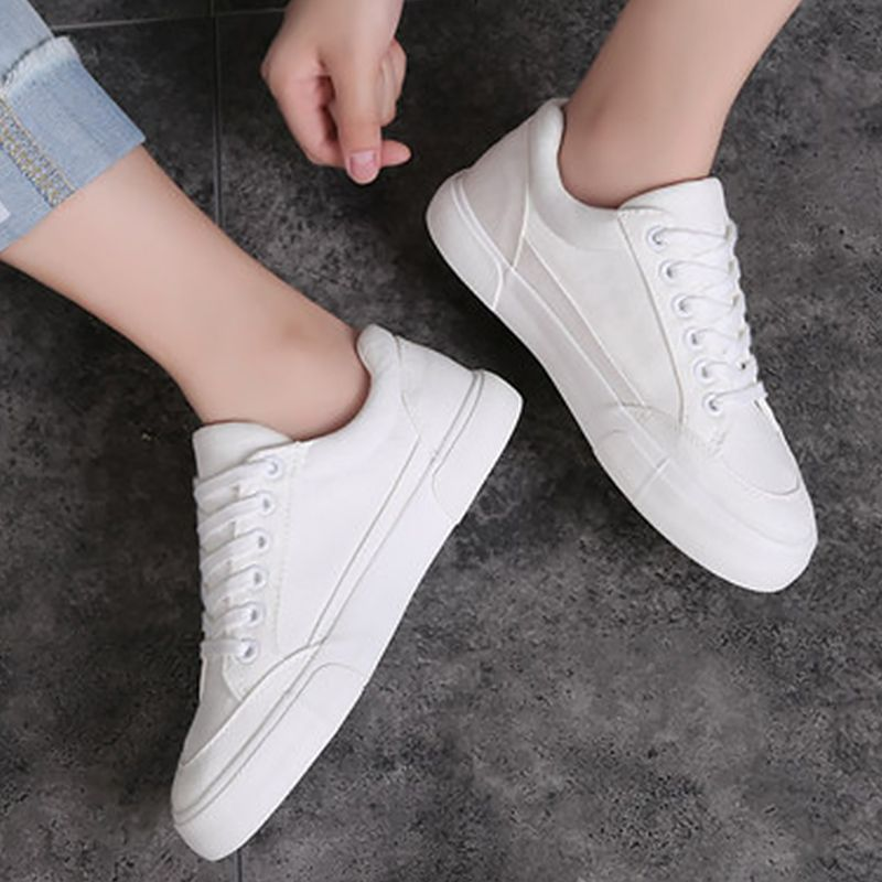 50e0acb04 2017 new arrivals fashion canvas shoes black/white sneakers women solid  sewing shallow women casual