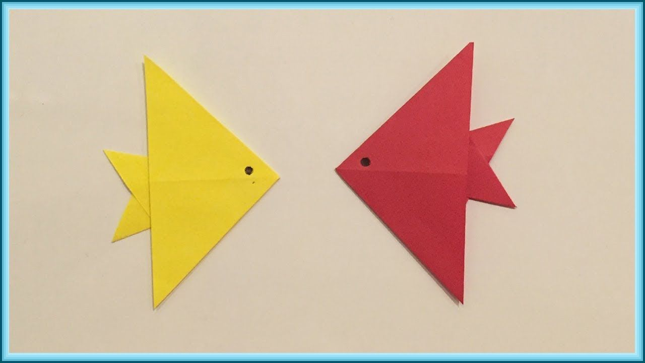 How To Make Paper Origami Fish Diy Crafts Origami Fish How To Make Paper Origami