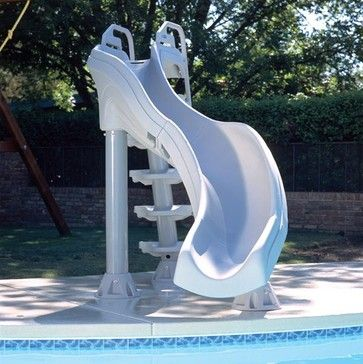 2d71af9b0 X tremendous pool slide Fast action swimming pool slide is the extreme  water slide for in-ground swimming pools. Double turn swimming pool slide  stands over ...