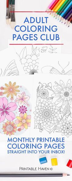 Subscribe to receive printable coloring pages for you to enjoy! This will satisfy anyone's coloring obsession.