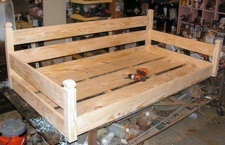 Custom ordered swing bed - by Built2Last @ LumberJocks.com .