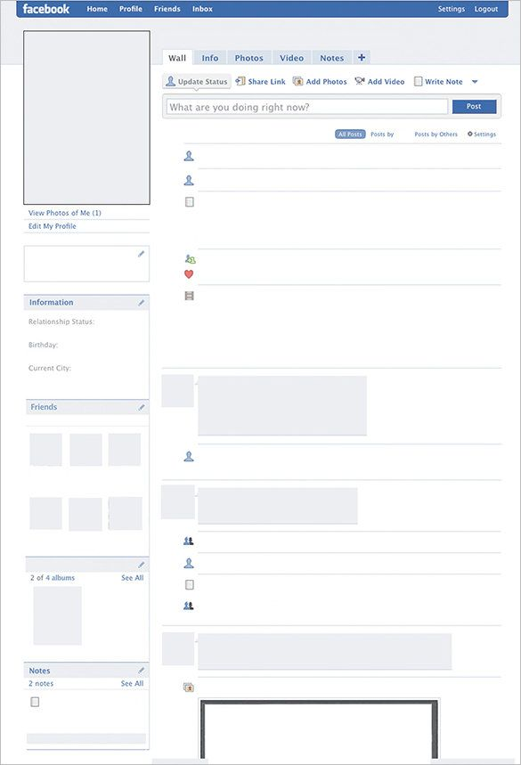 8  amazing blank facebook templates  u2013 free samples  examples  format download u2026