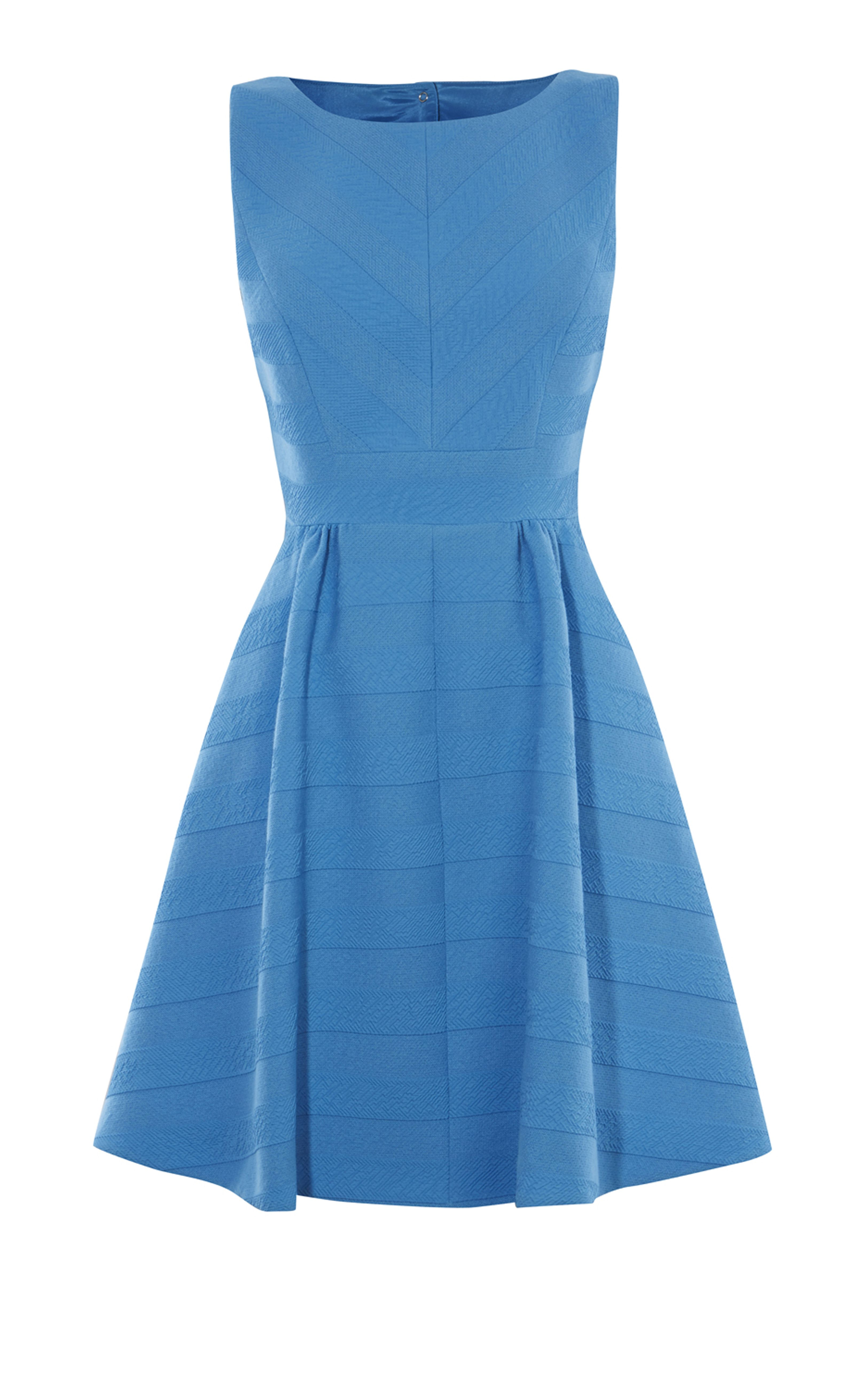 Karen Millen, TEXTURED STRIPED DRESS Blue | Gamine | Pinterest ...