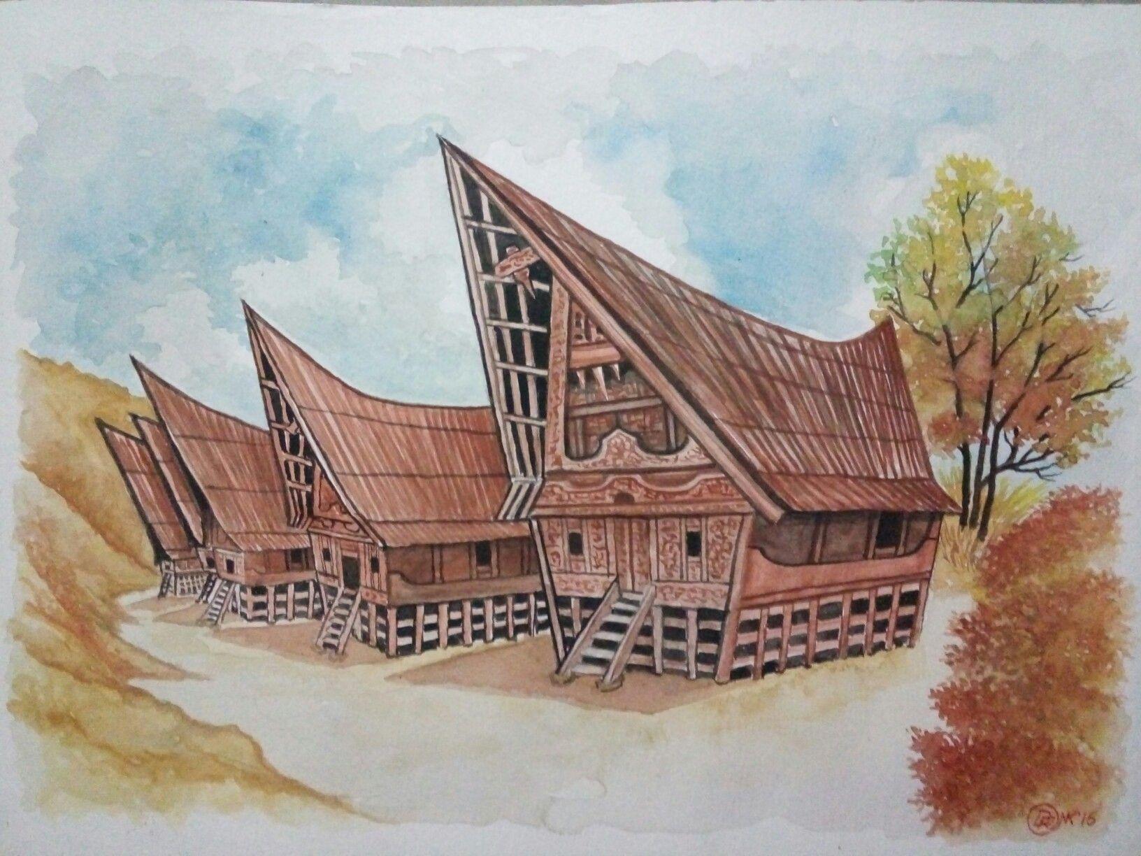Gambar Rumah Adat Batak Toba