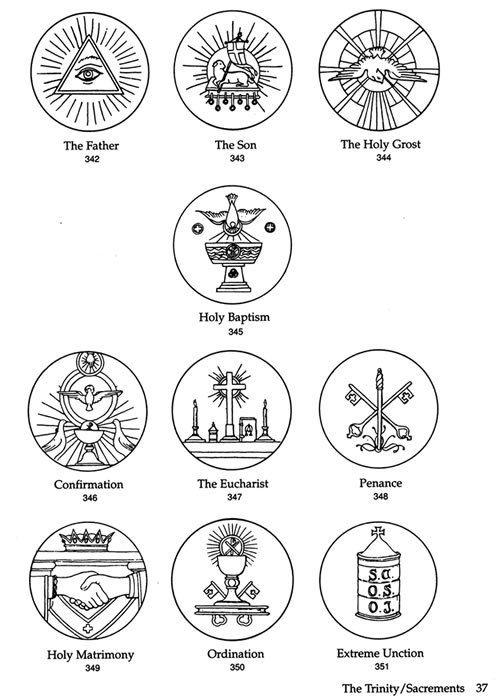 7 Sacraments Altar Crochet Pinterest Symbols Altars And Churches