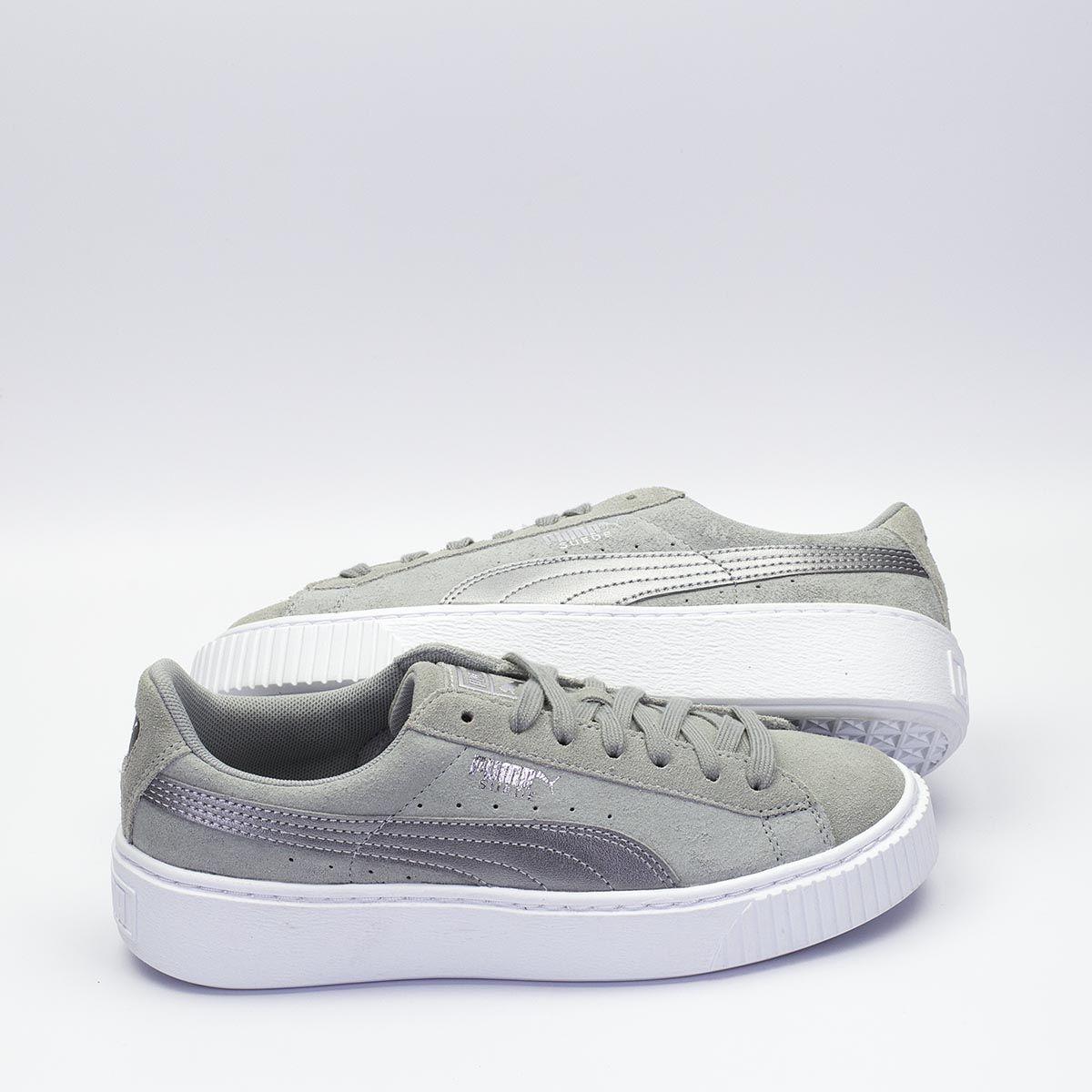 sports shoes 6125a e67f1 Puma Suede Platform Safari γκρι, συμπληρώνει κάθε streetwear ...