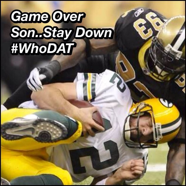Saints Beat The Packers Tonight Snf Whodat Nola Nawlins New Orleans Who Dat Nola