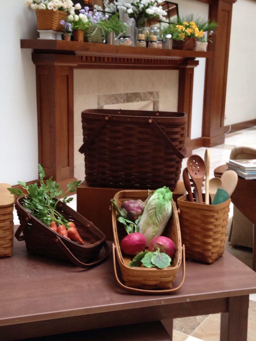 longaberger vegetable baskets longaberger baskets usa pinterest