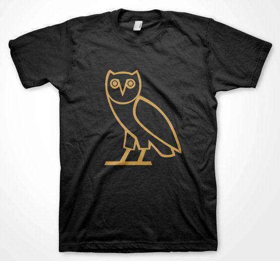 f6623231 OVOXO Gold Owl T-shirt OVO XO Drake October's Own Fan music shirts ...