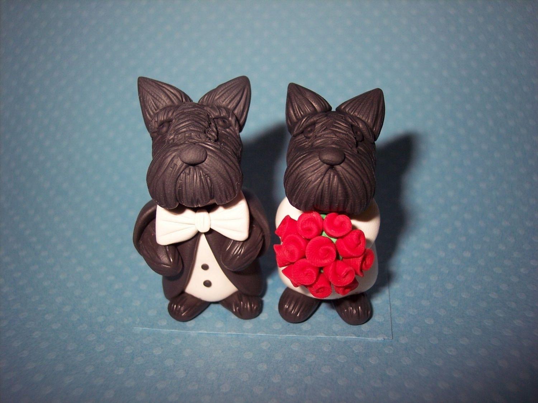 Scottish Terrier Wedding Cake Toppers   Wedding Dress   Pinterest ...