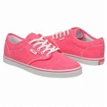 Athletics Vans Women s Atwood Low Neon Pink Shoes.com  5a0260a4af60