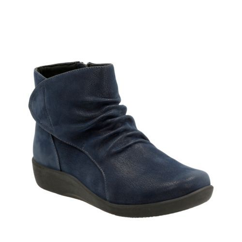 Sillian Chell Navy Synthetic Nubuck womens-narrow-fit-ankle-boots