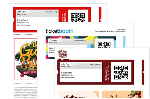 Custom e-Ticket Design For Festivals project \/\/ small ticket - how to design a ticket for an event