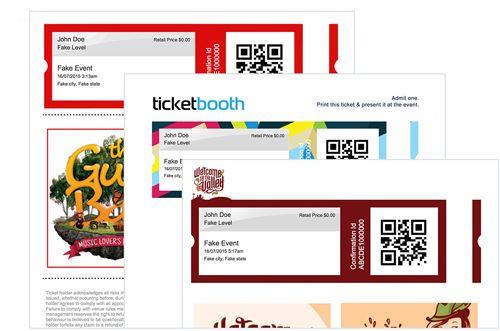 Custom e-Ticket Design For Festivals | project // small ticket stock ...
