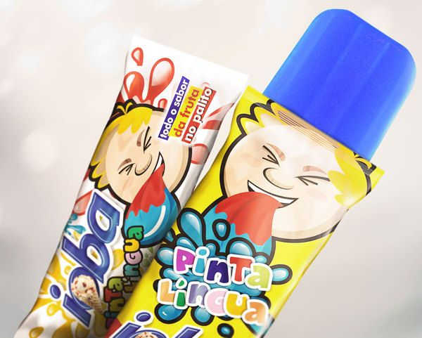 Tongue Paint Popsicle Ioba Packaging by Thiago Ranielli