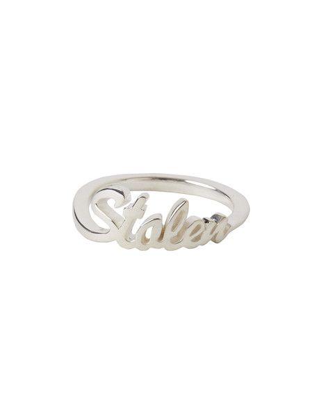 Stolen Script Ring