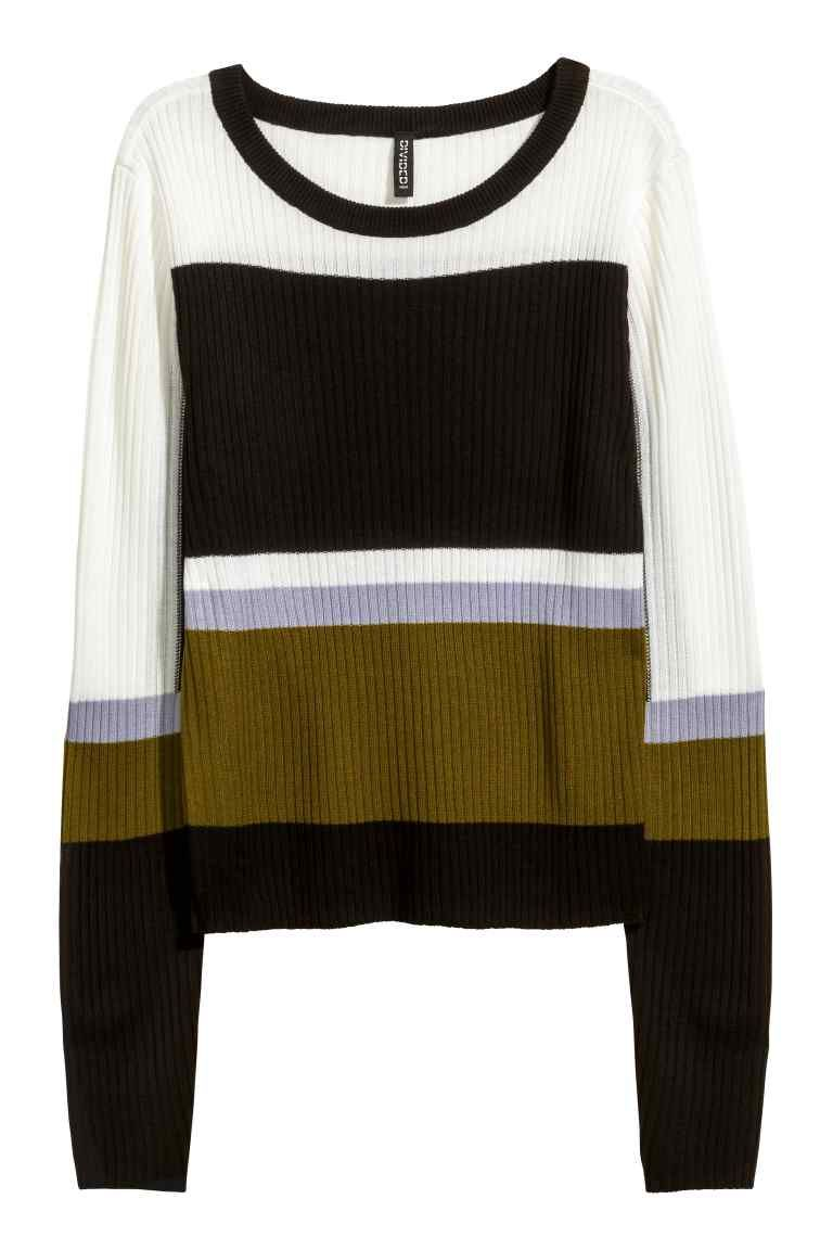 Ribgebreide trui   kleren   Pinterest Sweaters, Black