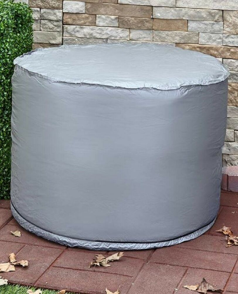 Air Conditioner Cover Round Ground Outdoor Protection AC