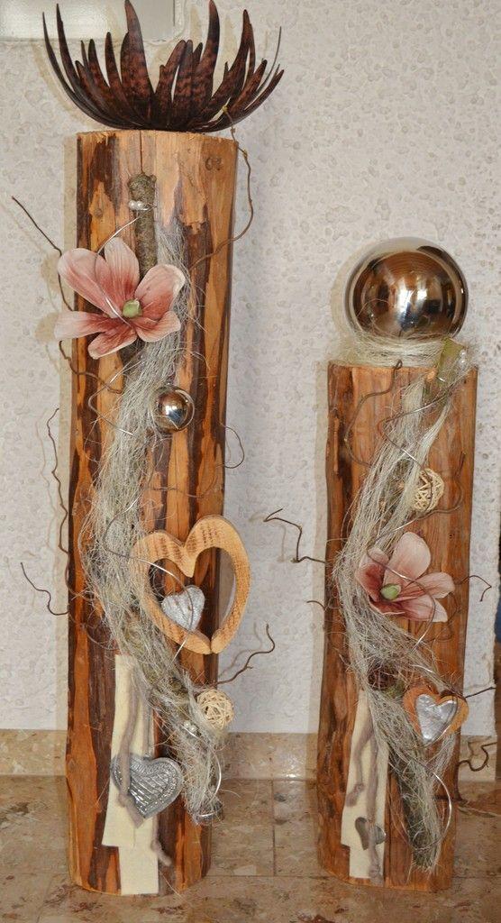 Holzpfosten Deko pin iv auf svátky podzimní dekorace dekorieren
