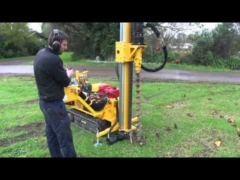 Tight Access 1 8m Auger Drill Rig Mts Youtube Water Well