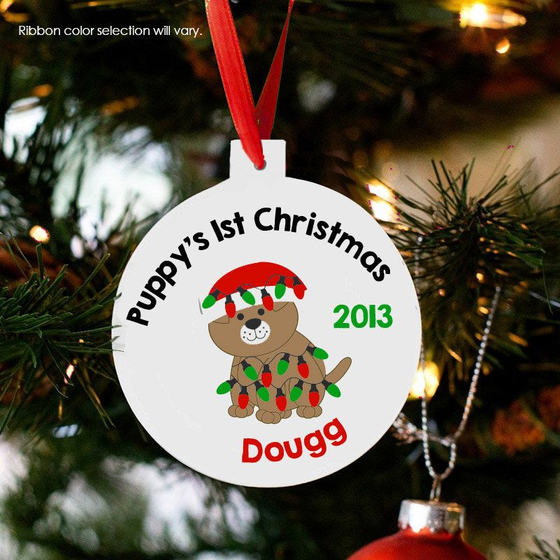 puppy's first christmas ornament dog christmas gift personalized ...