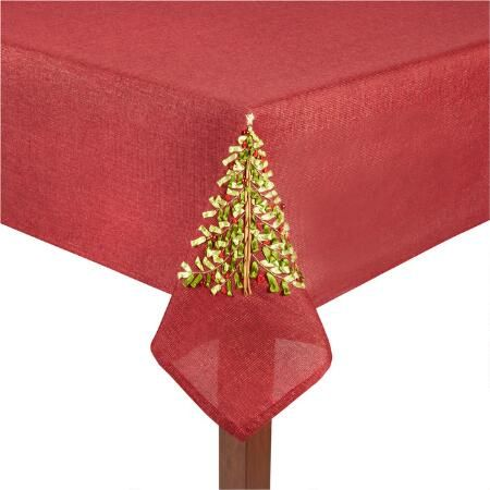 Lurex Metallic Christmas Tablecloth
