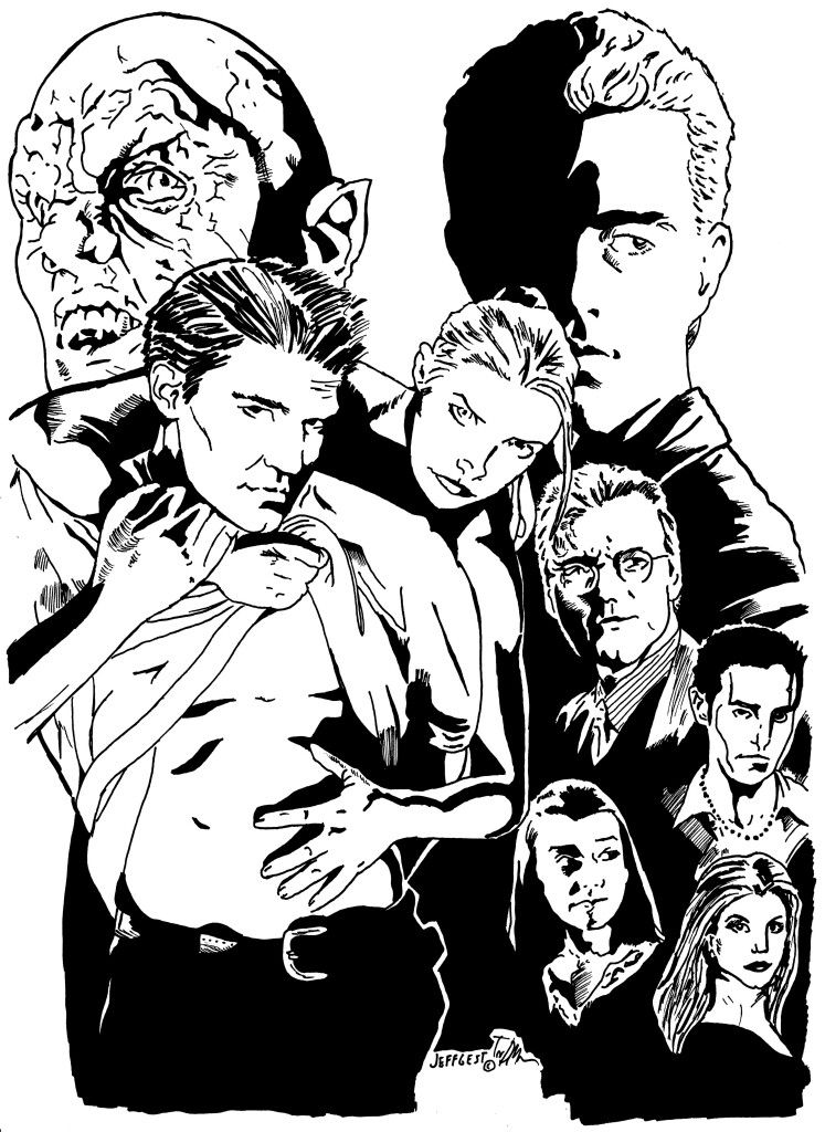buffy the vampire slayer coloring pages - fant stico buffy the vampire slayer para colorear