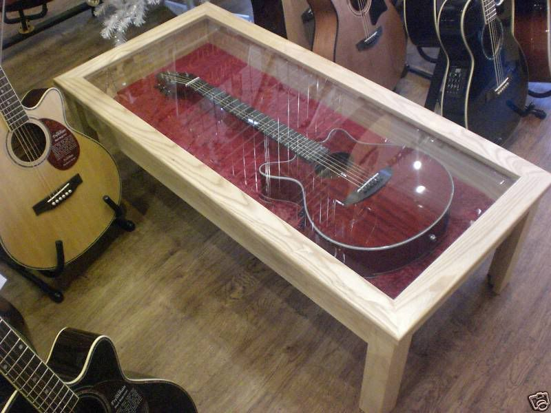 I Want A Coffee Table Display Case For A Library Area To Put My Future Book Of Kells Reproduction In Display Coffee Table Guitar Display Case Guitar Display