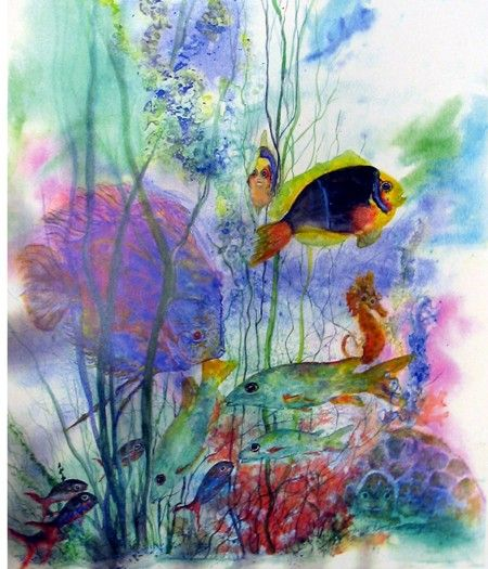 Fish,Turtle,Seahorse,Giclee,Sealife, Ocean,Tropical ...