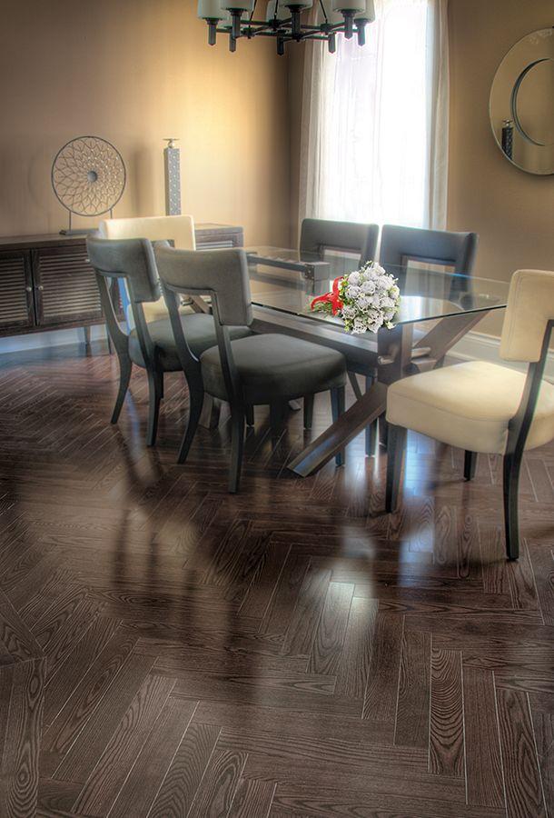 @Vintage Hardwood Flooring Ash- Carleton #hardwood #ashhardwood #hardwoodflooring #herringbone