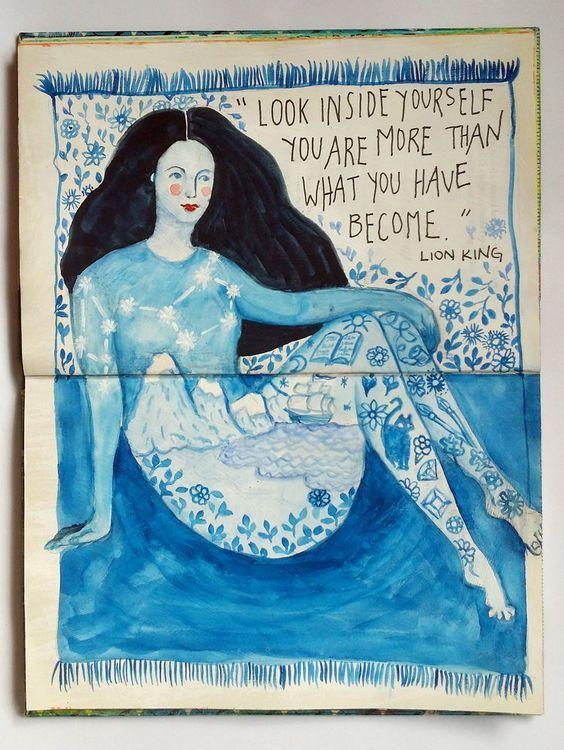 @romarny   Season of Introspection   Get Messy Art Journal