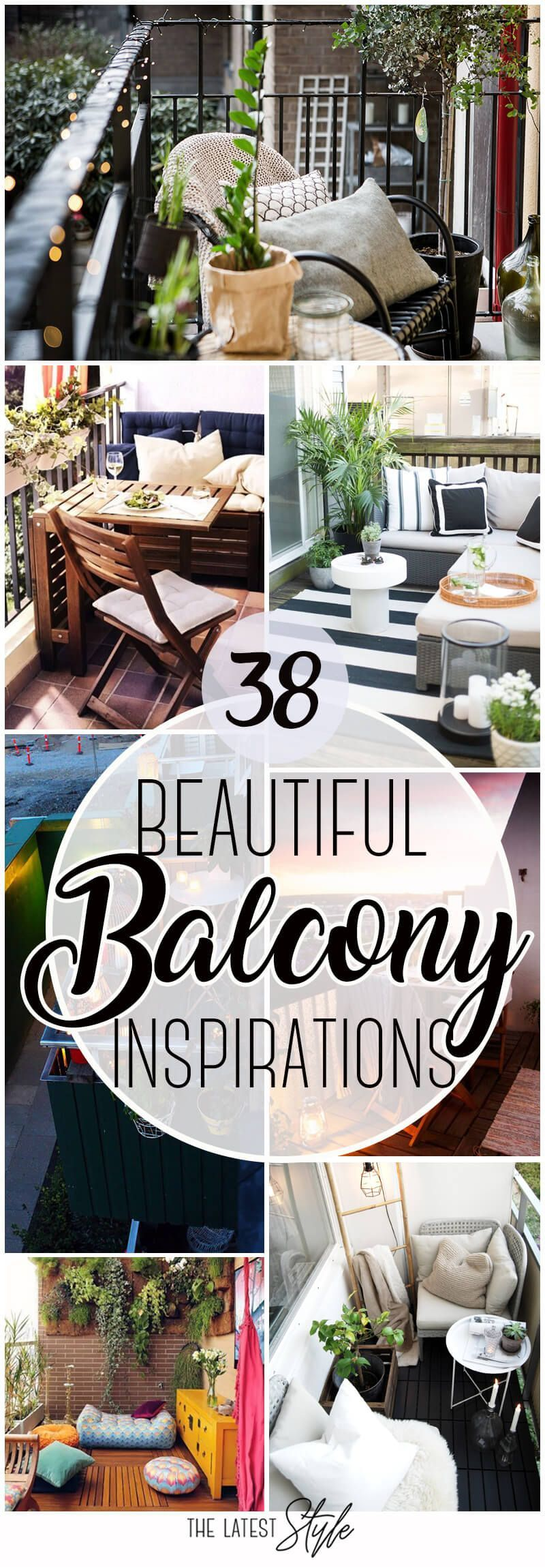 38 Beautiful Balcony Inspirations #wohnungbalkondekoration